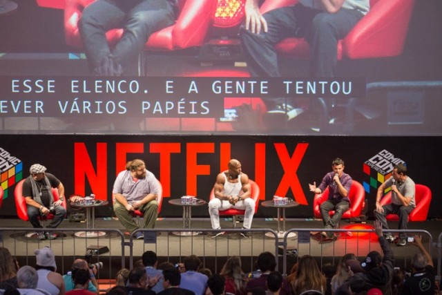 Painel do filme Original Netflix, The Ridiculous 6 na Comic Con Experience 2015. (Foto: Henrique Manreza)